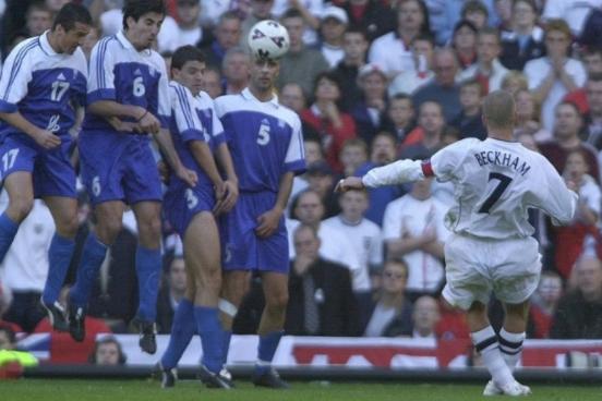 David Beckham 's free-kick was 20 years ago
